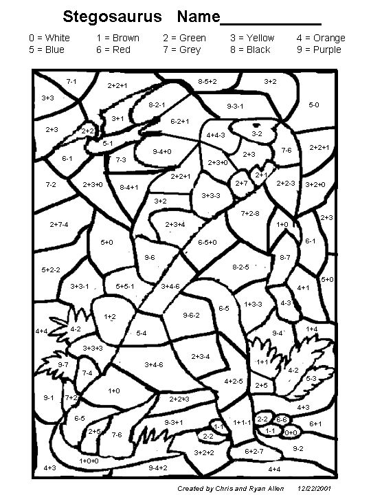 coloring pictures for grade 4 stegosaurus math activity printout enchantedlearningcom grade pictures coloring 4 for