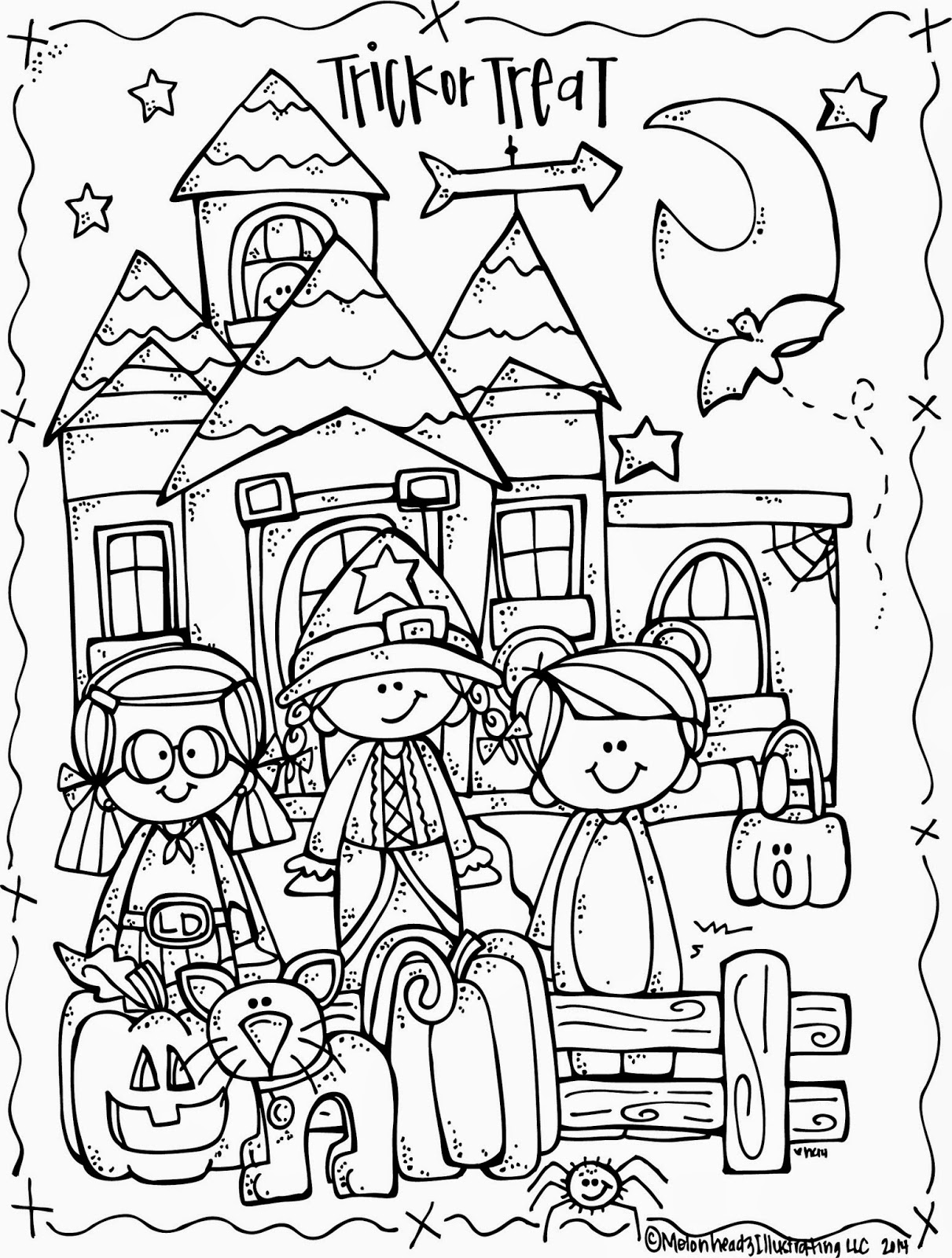 coloring pictures for halloween melonheadz lucy doris halloween coloring page freebie coloring halloween pictures for