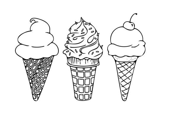 coloring pictures ice cream printable coloring sheet instant download ice cream cones coloring pictures cream ice