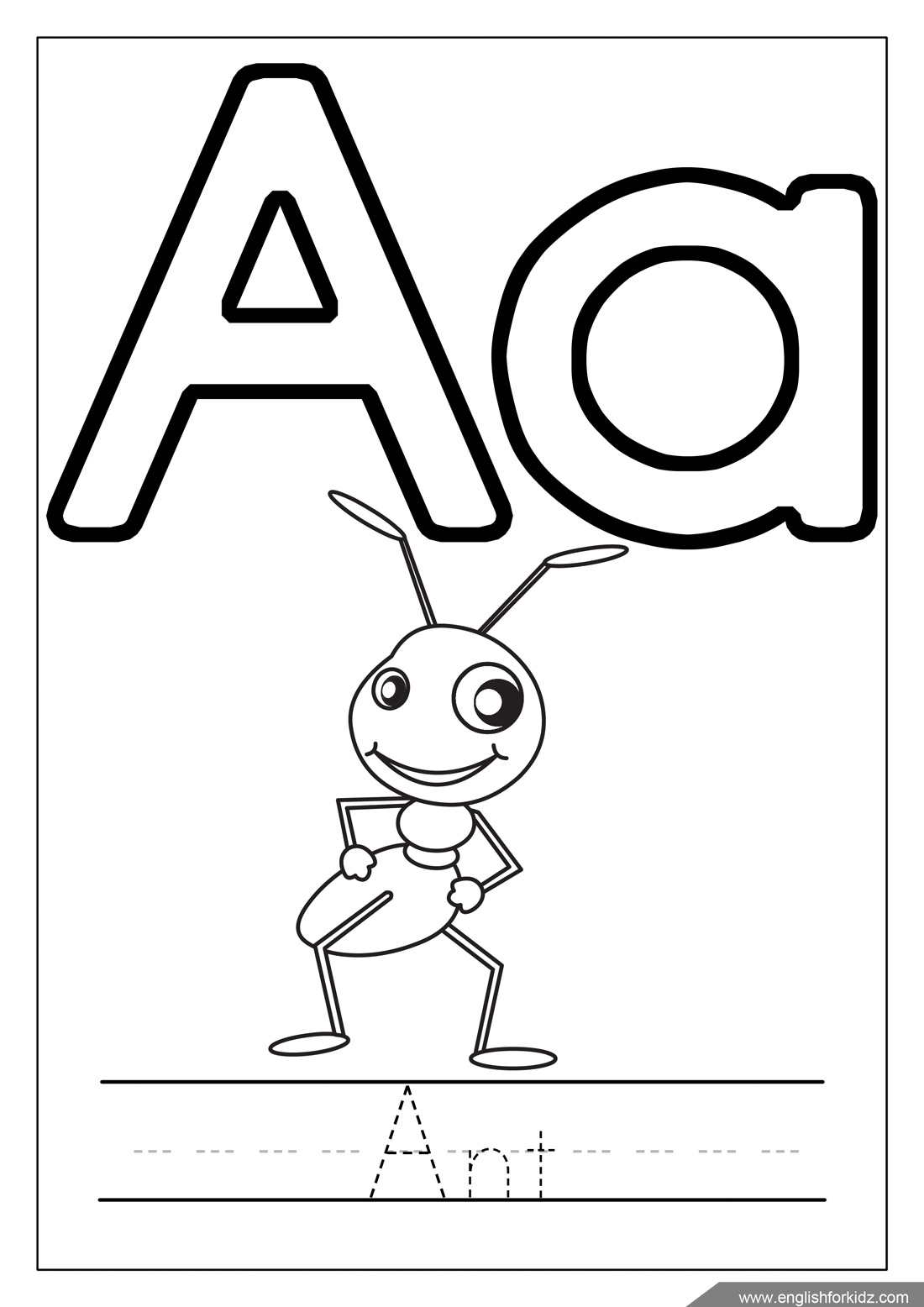 coloring pictures letter a fileclassic alphabet a at coloring pages for kids boys a pictures coloring letter