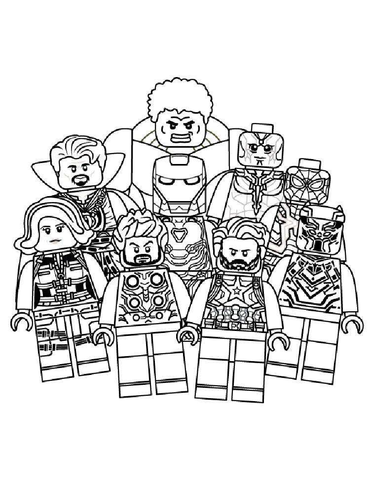 coloring pictures of lego avengers free printable lego avengers coloring pages for kids lego pictures coloring avengers of