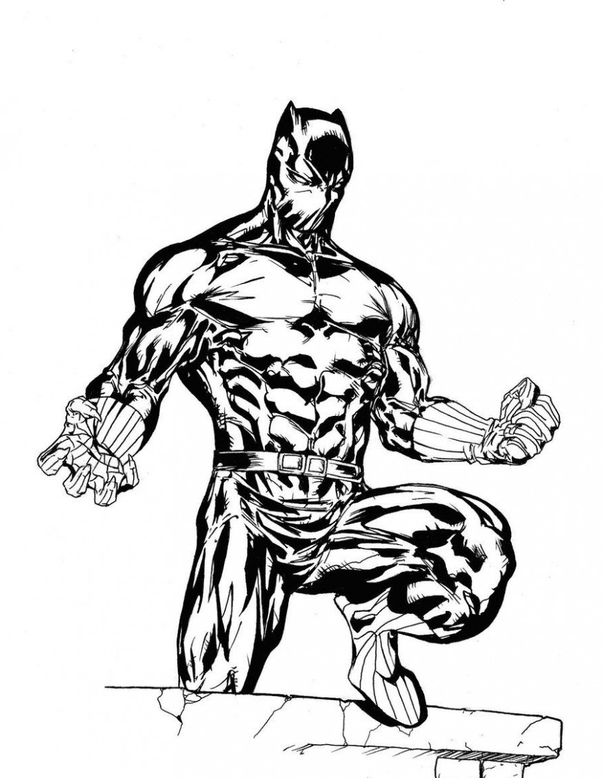 coloring pictures of panthers cool marvel black panther drawing coloring page free panthers of coloring pictures