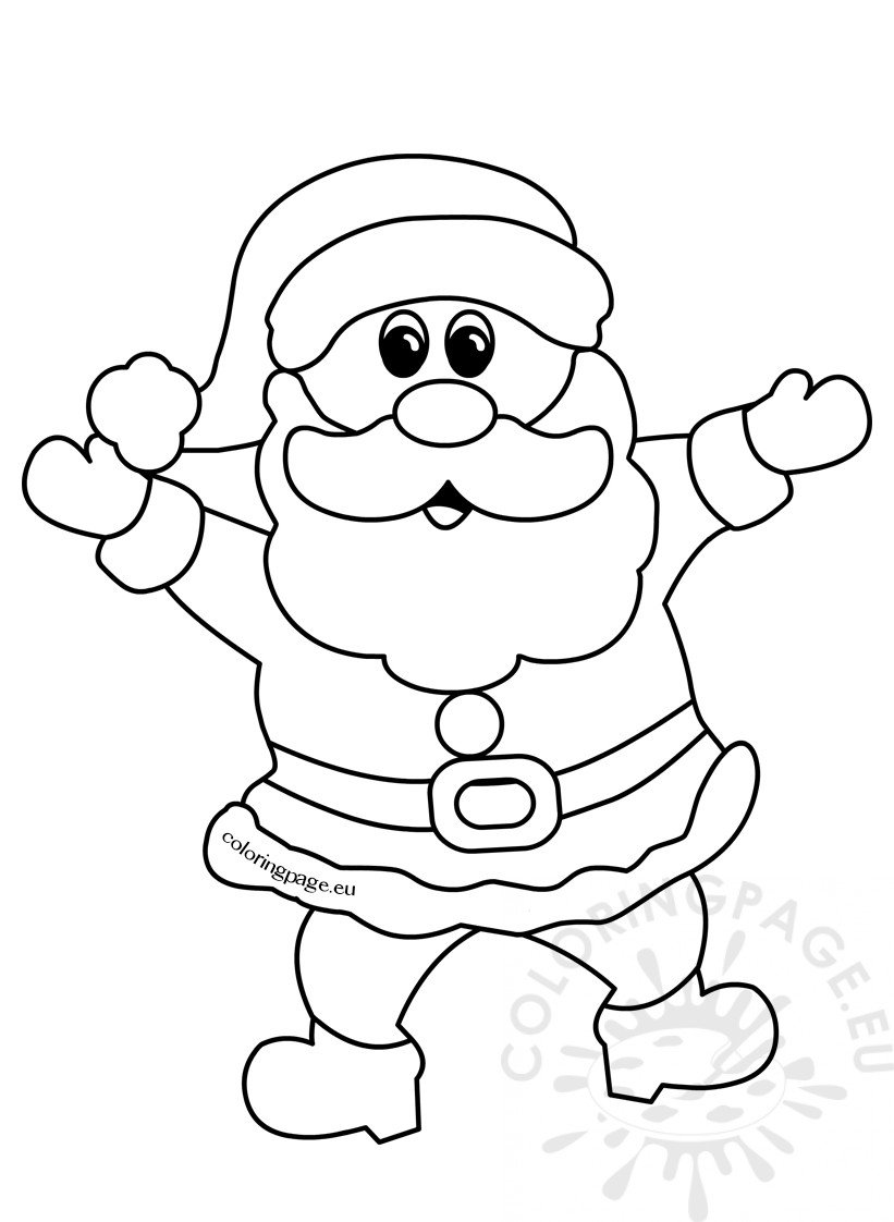 coloring pictures of santa claus cheerful santa claus christmas cartoon outline coloring page pictures claus santa coloring of