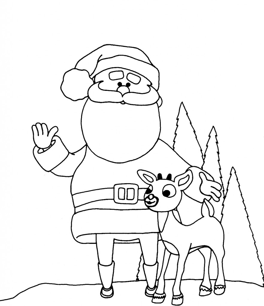 coloring pictures of santa claus free christmas colouring pages for children kids online claus of coloring santa pictures