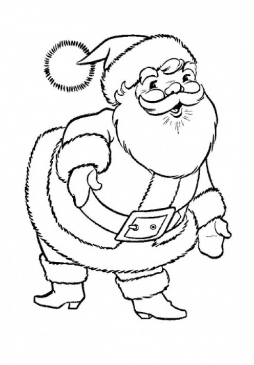 coloring pictures of santa claus free christmas colouring pages for children kids online santa claus pictures coloring of 1 1