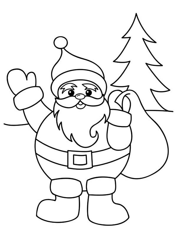 coloring pictures of santa claus santa claus with christmas sack on his back on christmas coloring santa of claus pictures
