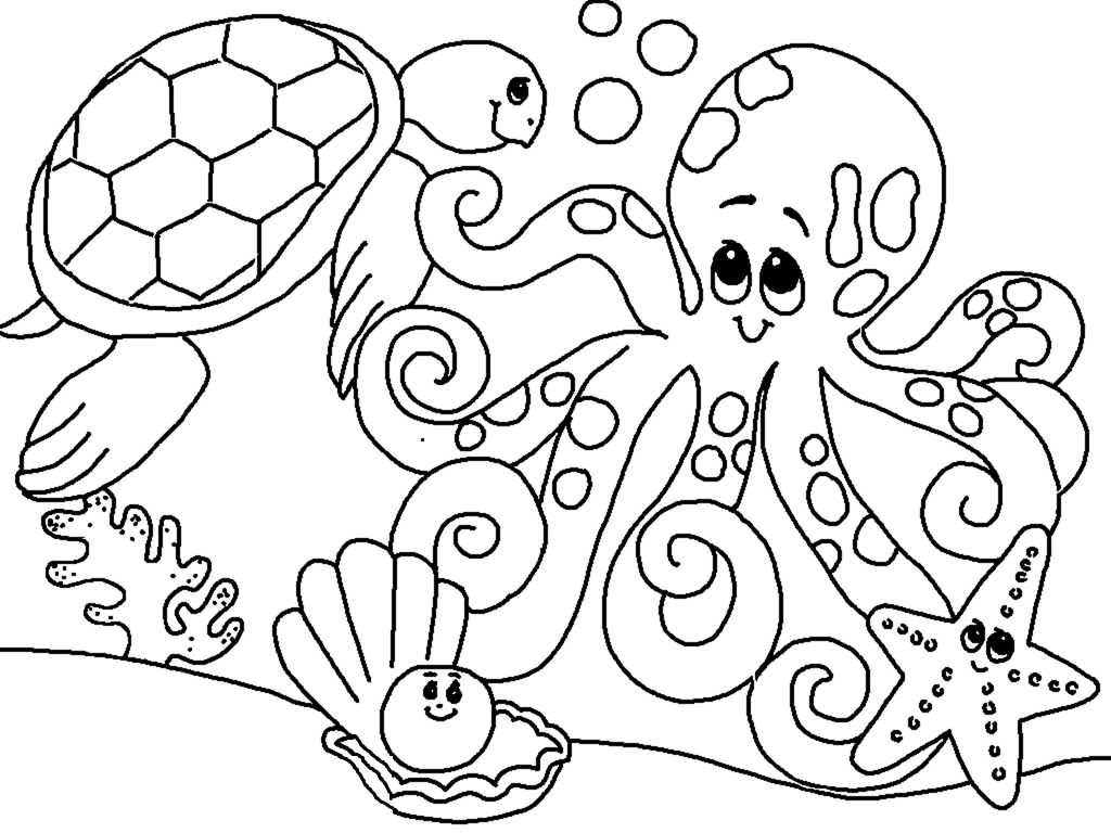 coloring pictures of sea animals underwater animals coloring pages getcoloringpagescom pictures sea of animals coloring
