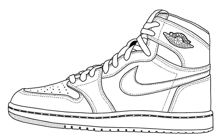 coloring pictures of shoes basketball shoe coloring pages download and print for free coloring pictures shoes of