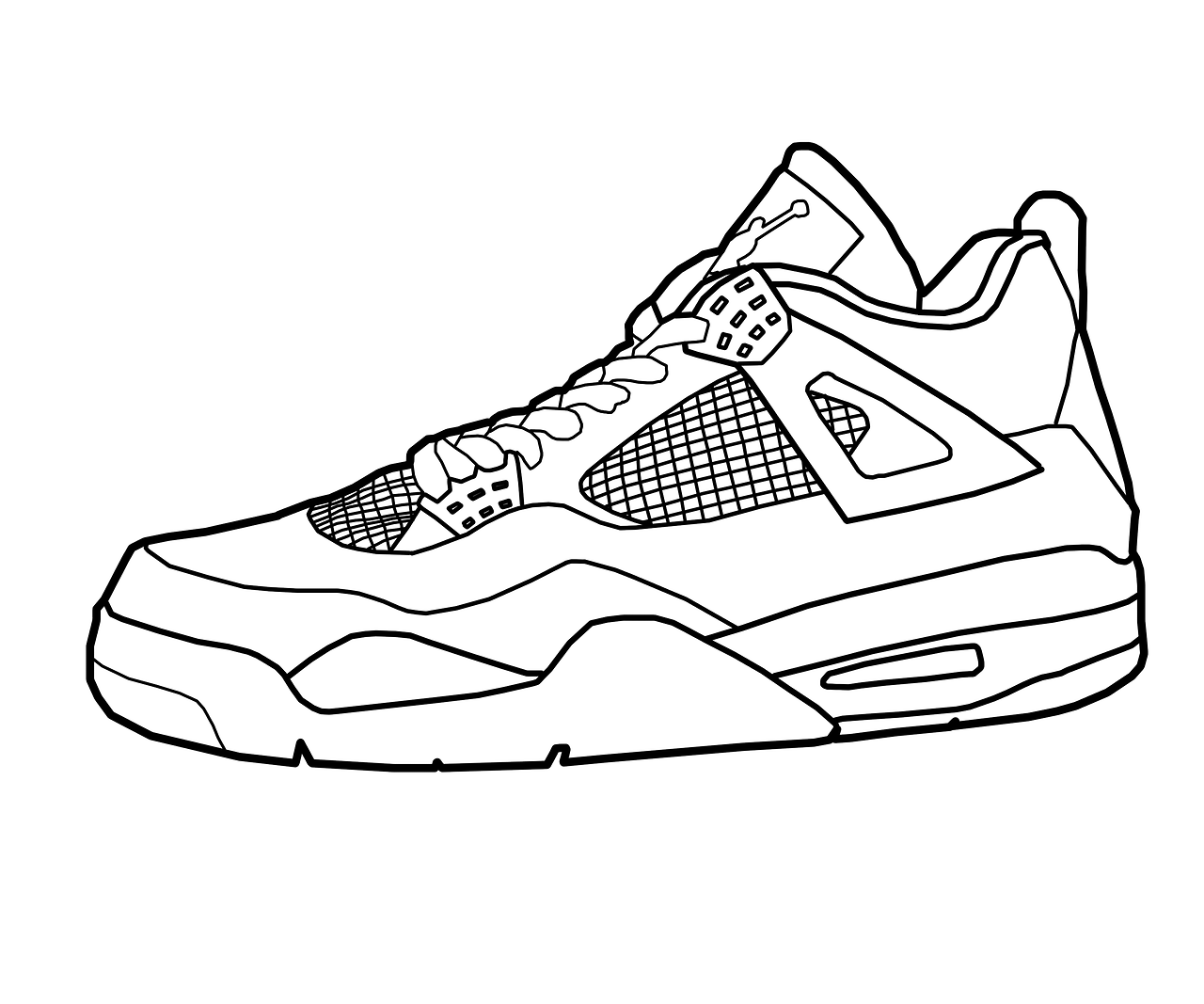 coloring pictures of shoes basketball shoes coloring pages to printable colouring pictures coloring shoes of