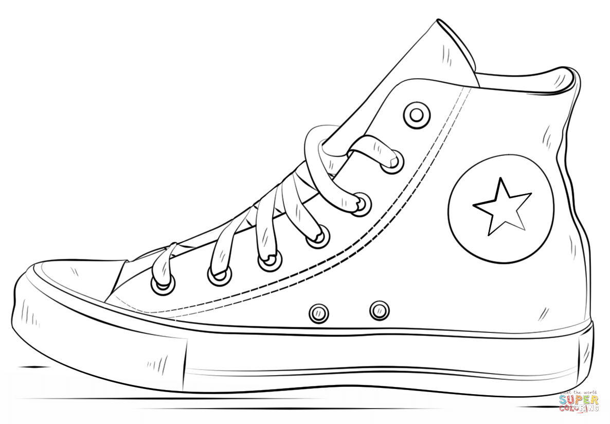 coloring pictures of shoes converse shoes coloring page free printable coloring coloring shoes pictures of