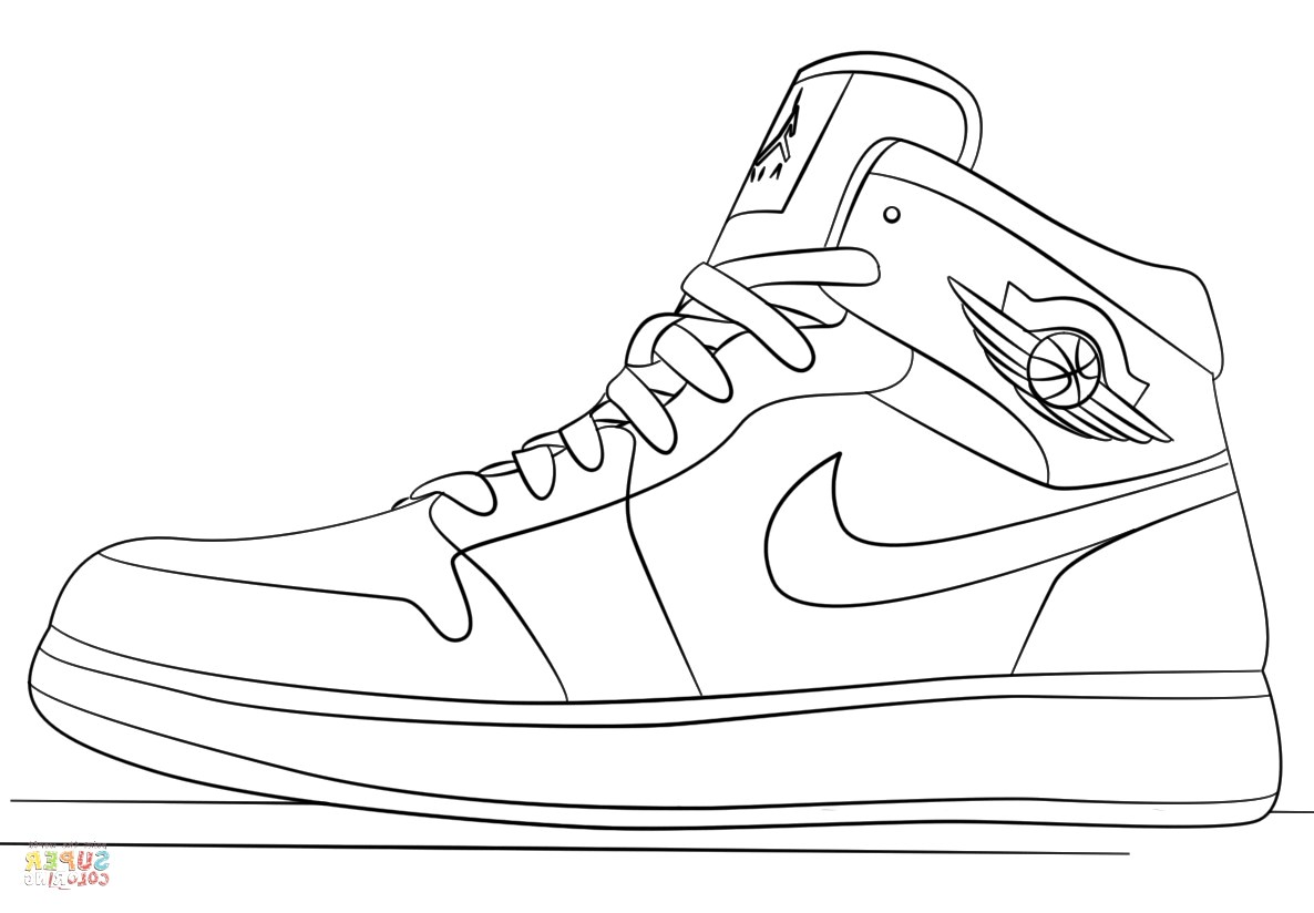 coloring pictures of shoes nike shoe drawing at paintingvalleycom explore pictures shoes coloring of