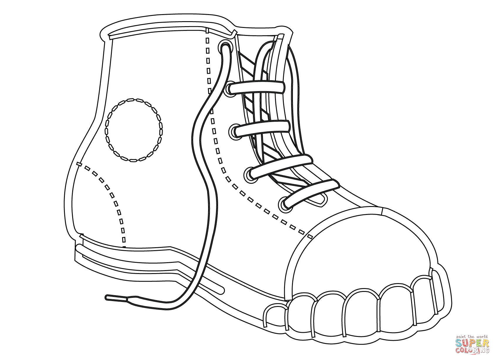 coloring pictures of shoes shoes coloring pages getcoloringpagescom coloring of shoes pictures