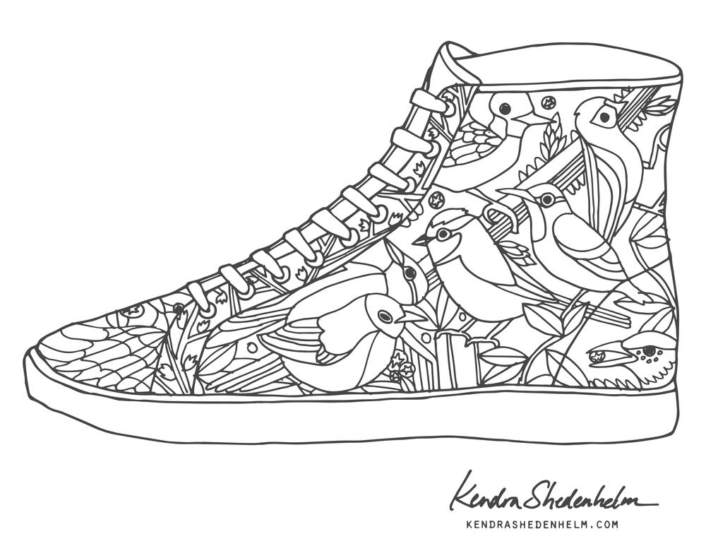 coloring pictures of shoes the coolest free coloring pages for adults pictures shoes of coloring