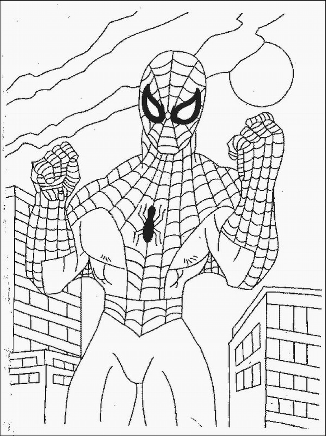 coloring pictures spiderman spiderman easy drawing at getdrawings free download coloring pictures spiderman