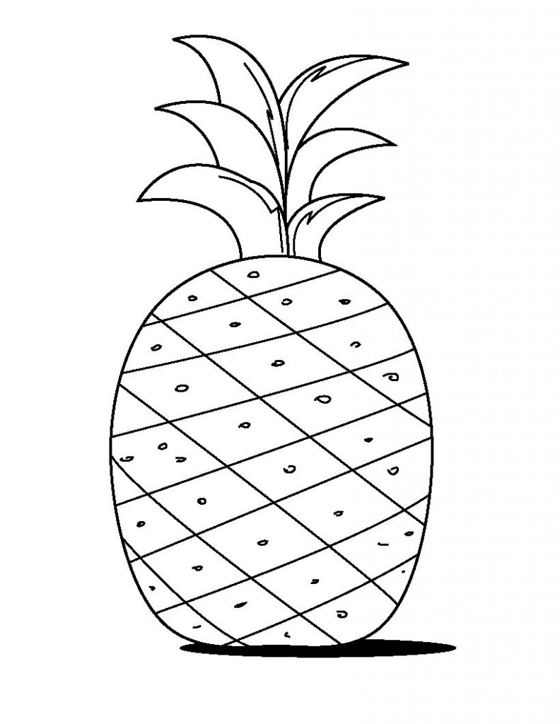 coloring pineapple a drawing of exotic smooth cayenne pineapple coloring page coloring pineapple