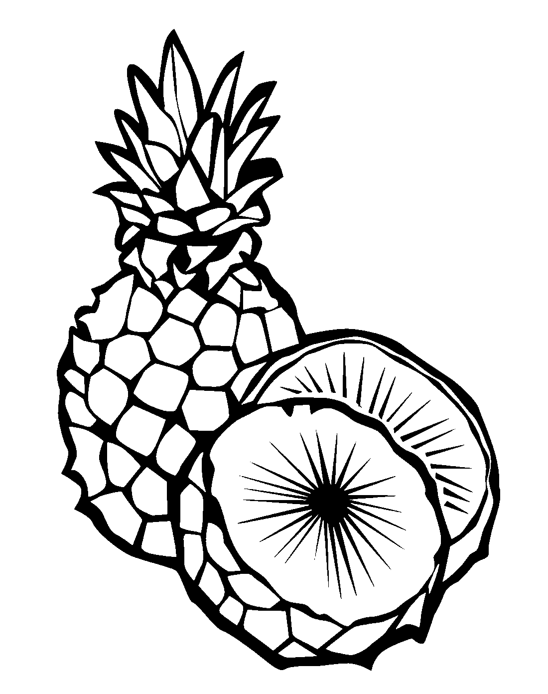 coloring pineapple pineapple free colouring pages coloring pineapple