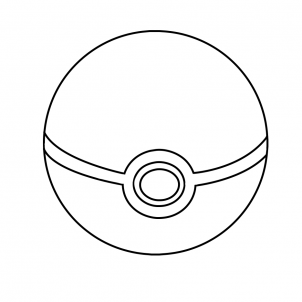 coloring pokemon ball how to draw a great ball from pokemon step by step pokemon ball coloring
