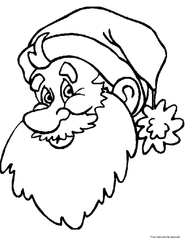 coloring santa face have fun with this amazing coloring page of a happy santa santa face coloring