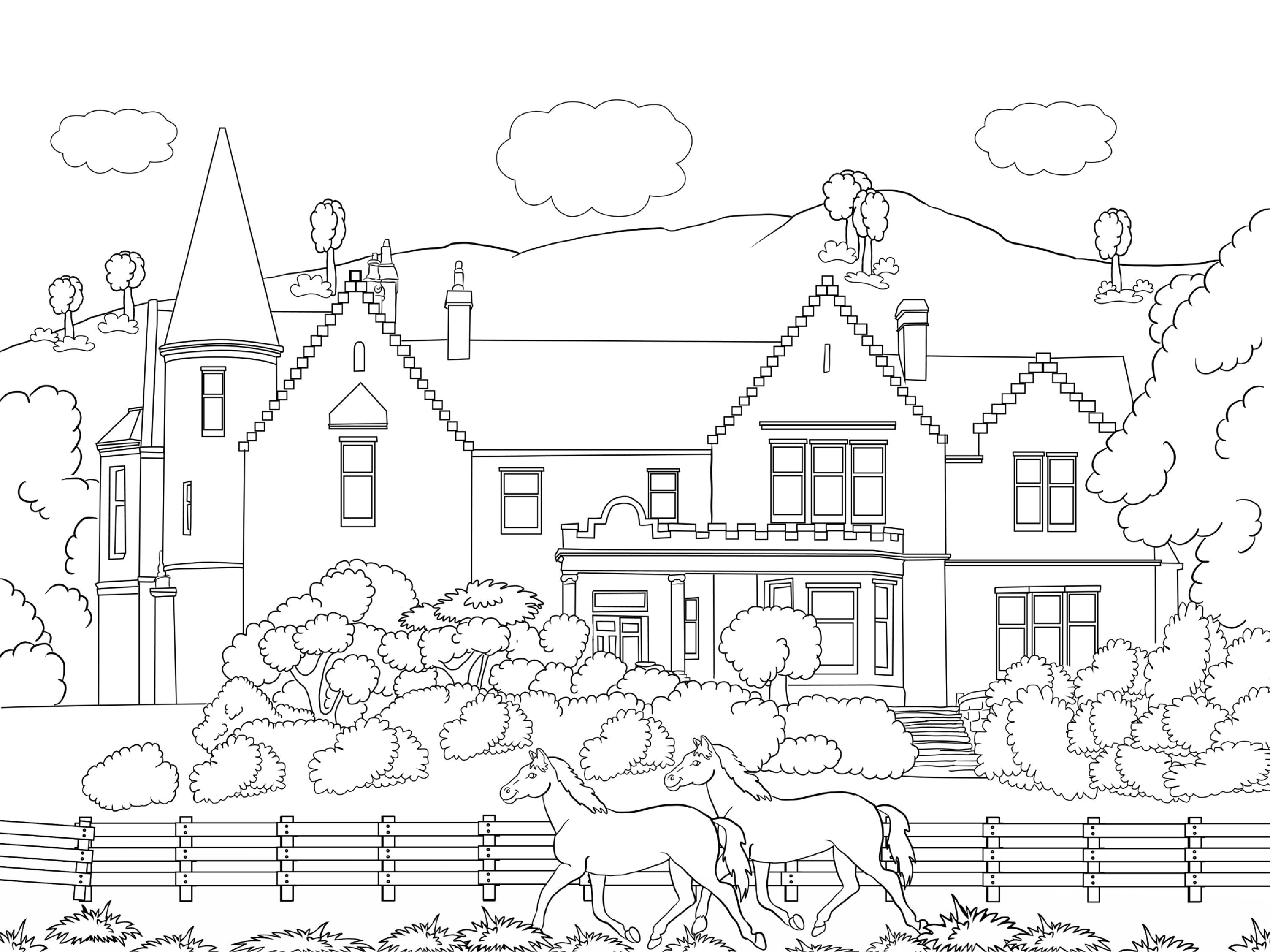 coloring scenery for kids mountain scenery coloring pages at getcoloringscom free kids for scenery coloring
