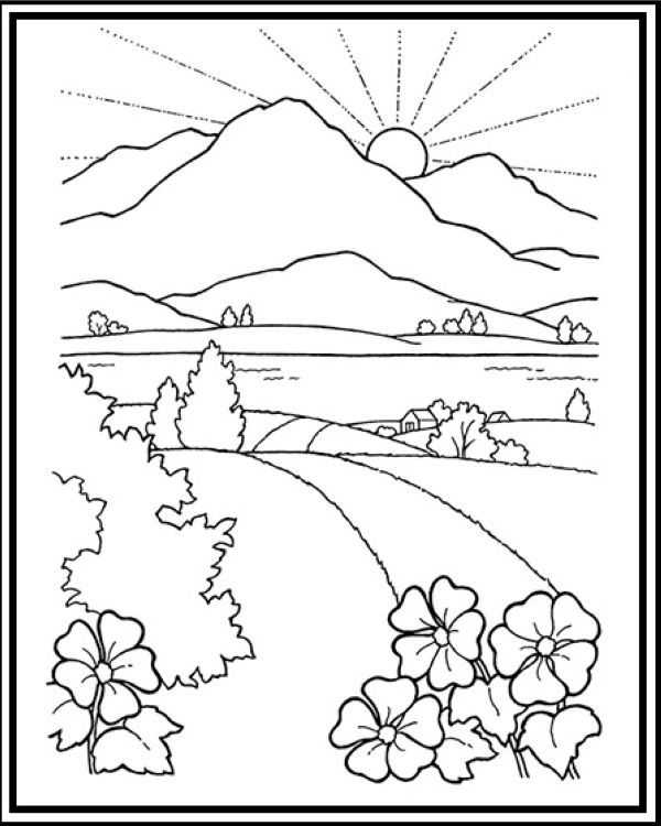 coloring scenery for kids natural scenery drawing at getdrawings free download coloring scenery for kids