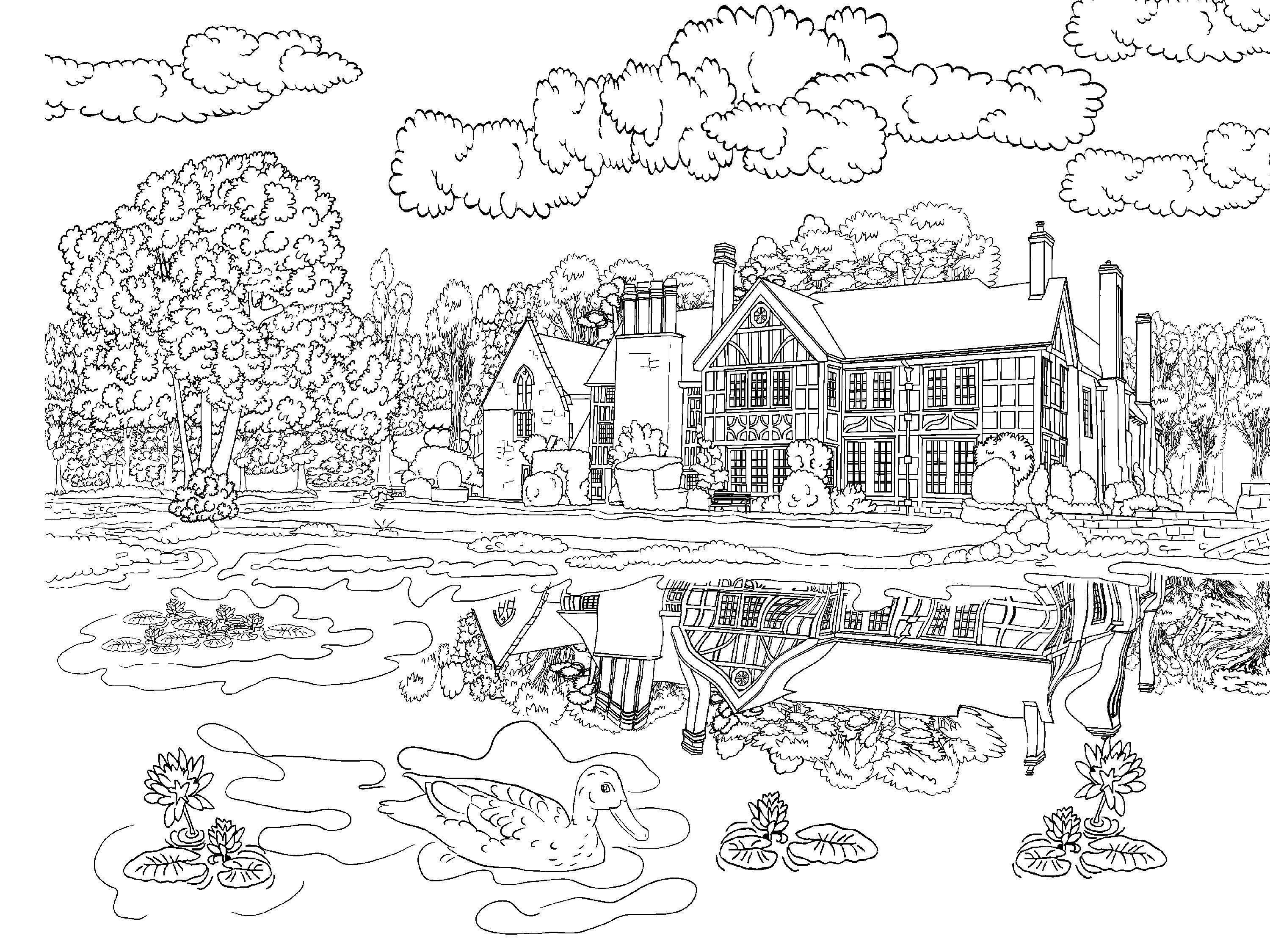 coloring scenery for kids pin on embroidery coloring for scenery kids