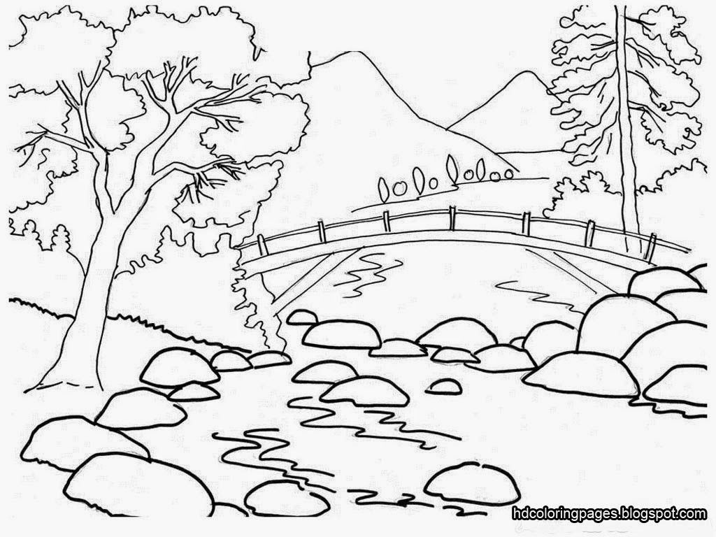coloring scenery for kids scenery drawing for kids at getdrawings free download kids scenery coloring for 1 2