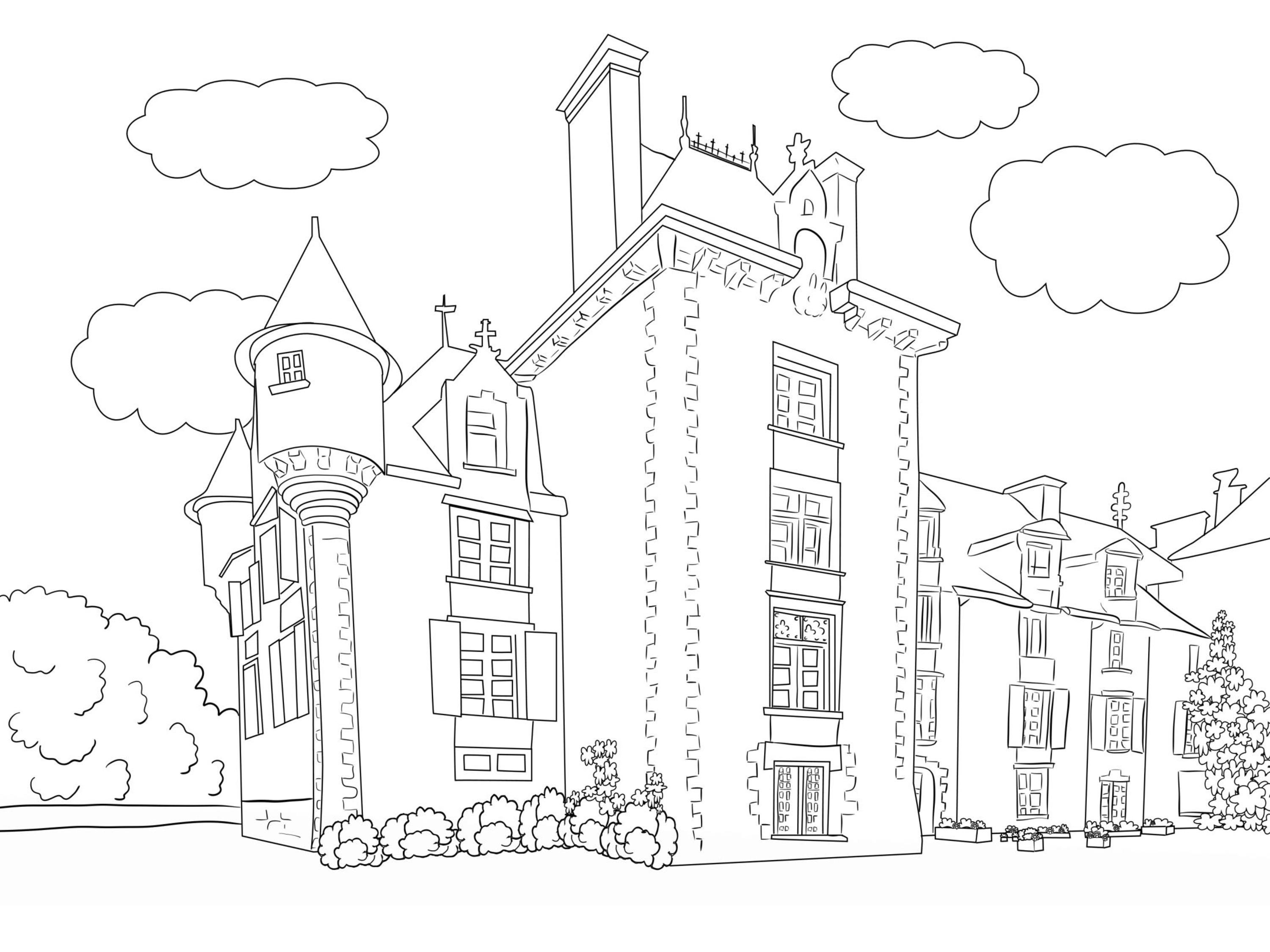 coloring scenery for kids scenery drawing step by step at getdrawings free download for coloring kids scenery