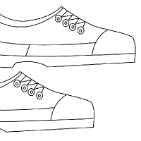 coloring school shoes converse all stars shoes cool coloring pages enjoy shoes coloring school
