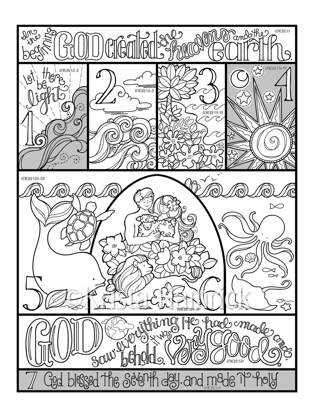 coloring sheet 7 days of creation coloring pages free 7 days of creation coloring pages coloring home free sheet pages days 7 creation coloring coloring of
