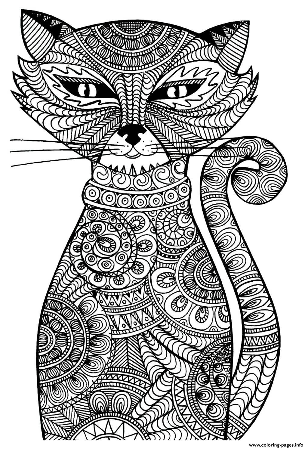 coloring sheet kitty adult cat coloring pages printable coloring sheet kitty