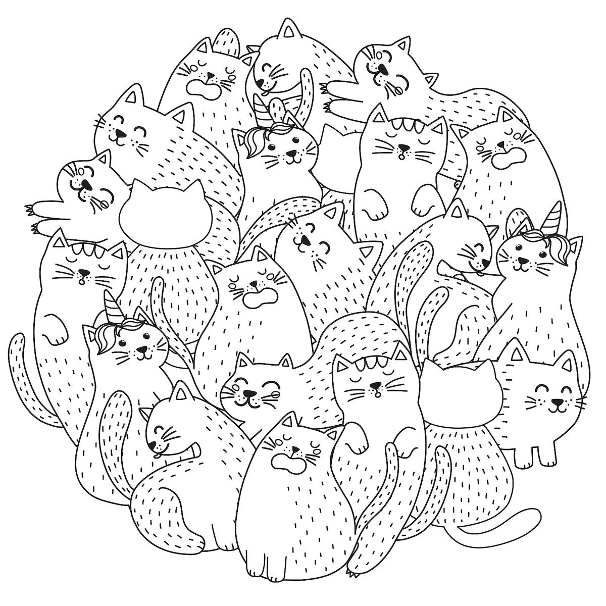 coloring sheet kitty free cat coloring pages purr fect printable coloring coloring kitty sheet