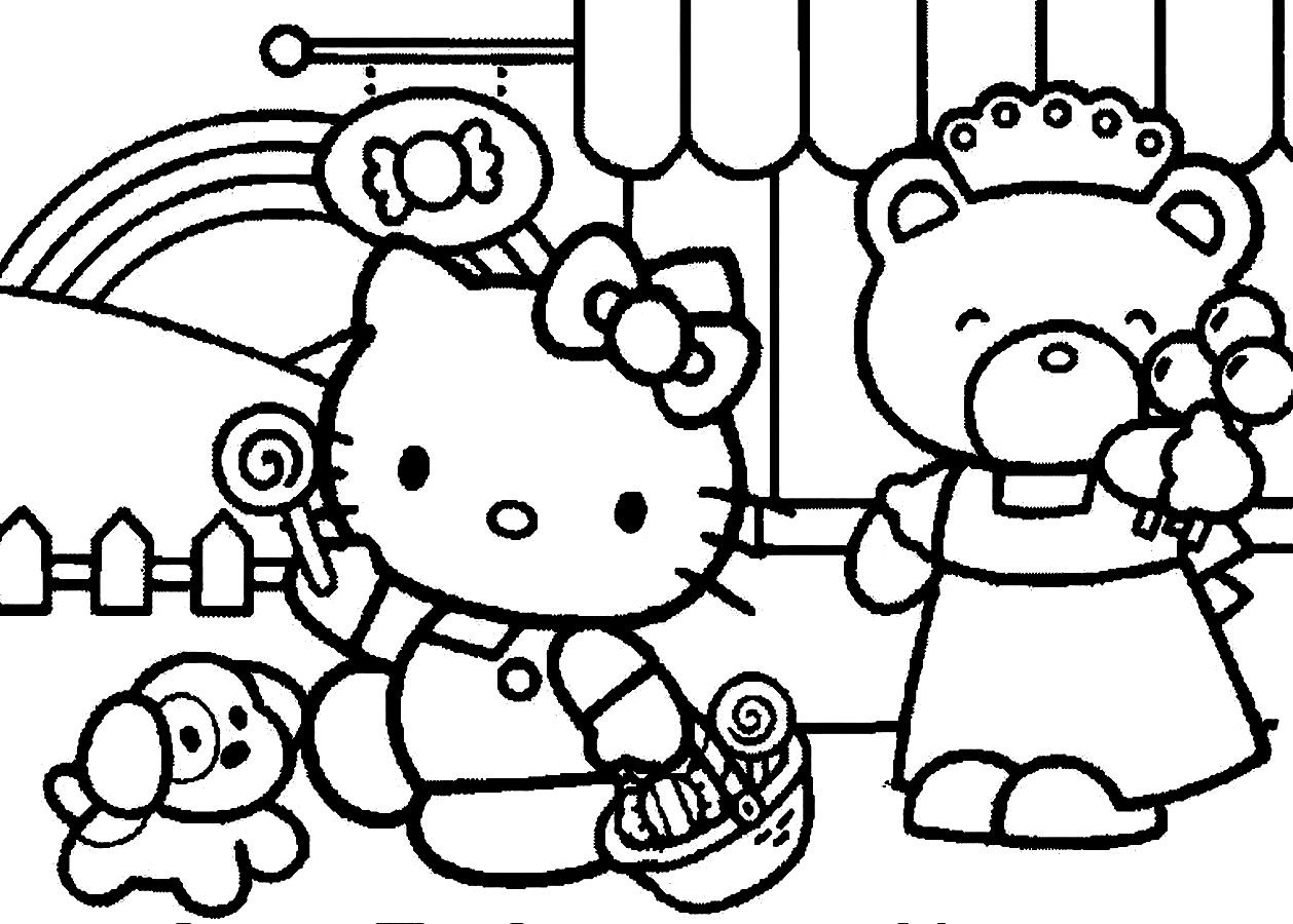 coloring sheet kitty hello kitty and friends coloring pages at getcoloringscom sheet kitty coloring
