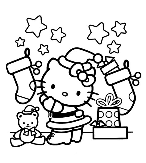 coloring sheet kitty hello kitty coloring pages christmas wallpapers9 kitty sheet coloring