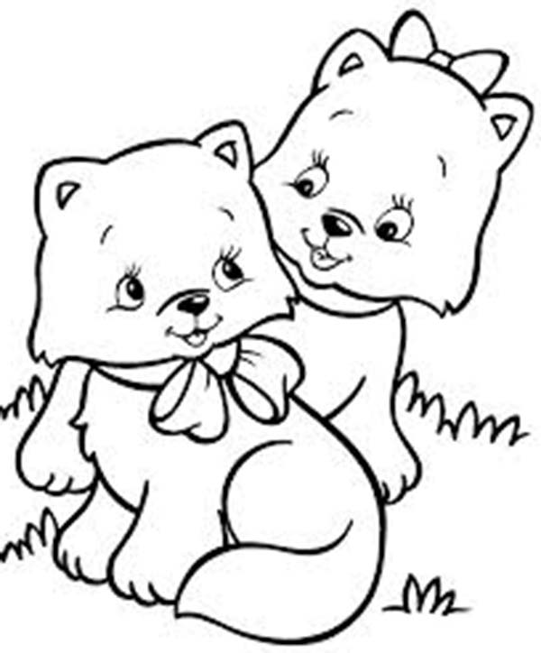 coloring sheet kitty two very cute kitty cat in the park coloring page kids coloring sheet kitty