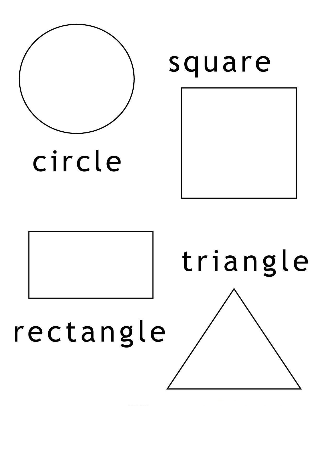 coloring sheet with shapes rectangle coloring pages for preschoolers at getcolorings sheet shapes coloring with