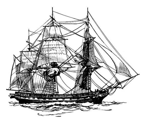 coloring ship 17th century frigate pirate ship coloring page kids play coloring ship