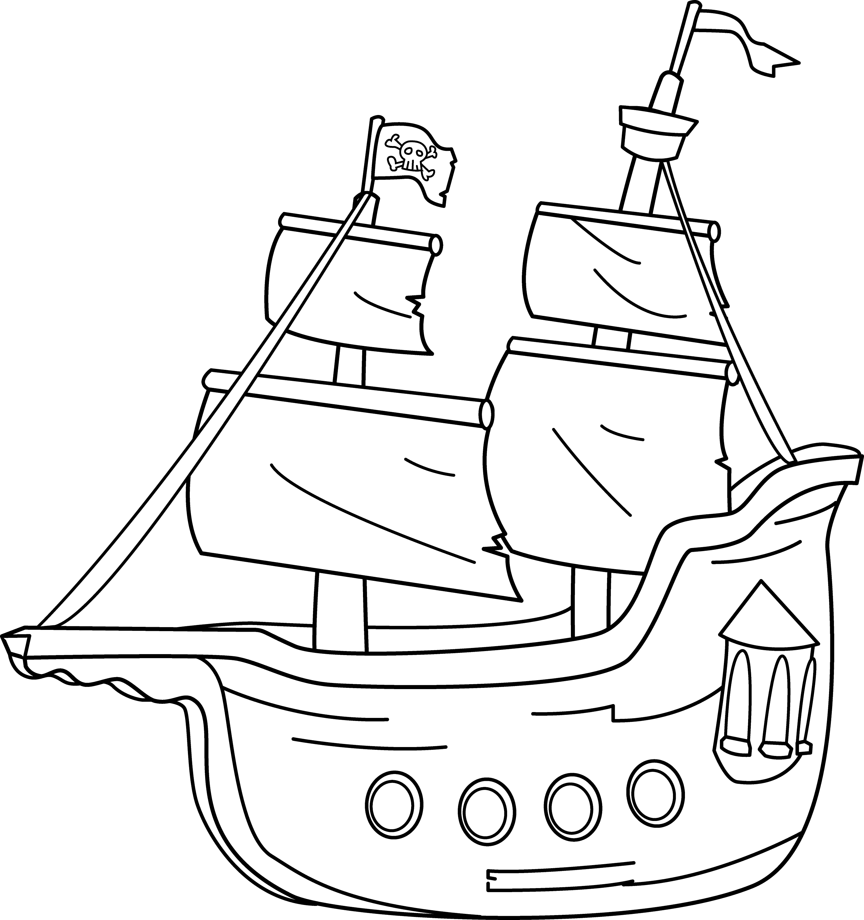 coloring ship simple pirate ship coloring pages for preschool ship coloring