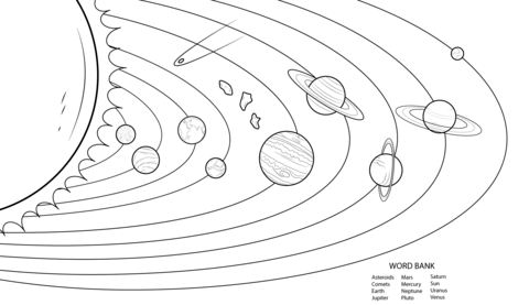 coloring solar system black and white planets coloring pages free black and white printables black solar and coloring system white