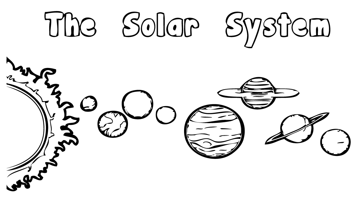 coloring solar system black and white printable solar system coloring pages for kids cool2bkids system white and solar coloring black