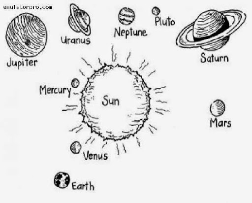 coloring solar system black and white solar system black and white clipart clipartfest clipartix black system white coloring solar and