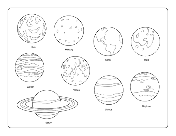 coloring solar system black and white solar system model worksheet coloring page free white black system and solar coloring
