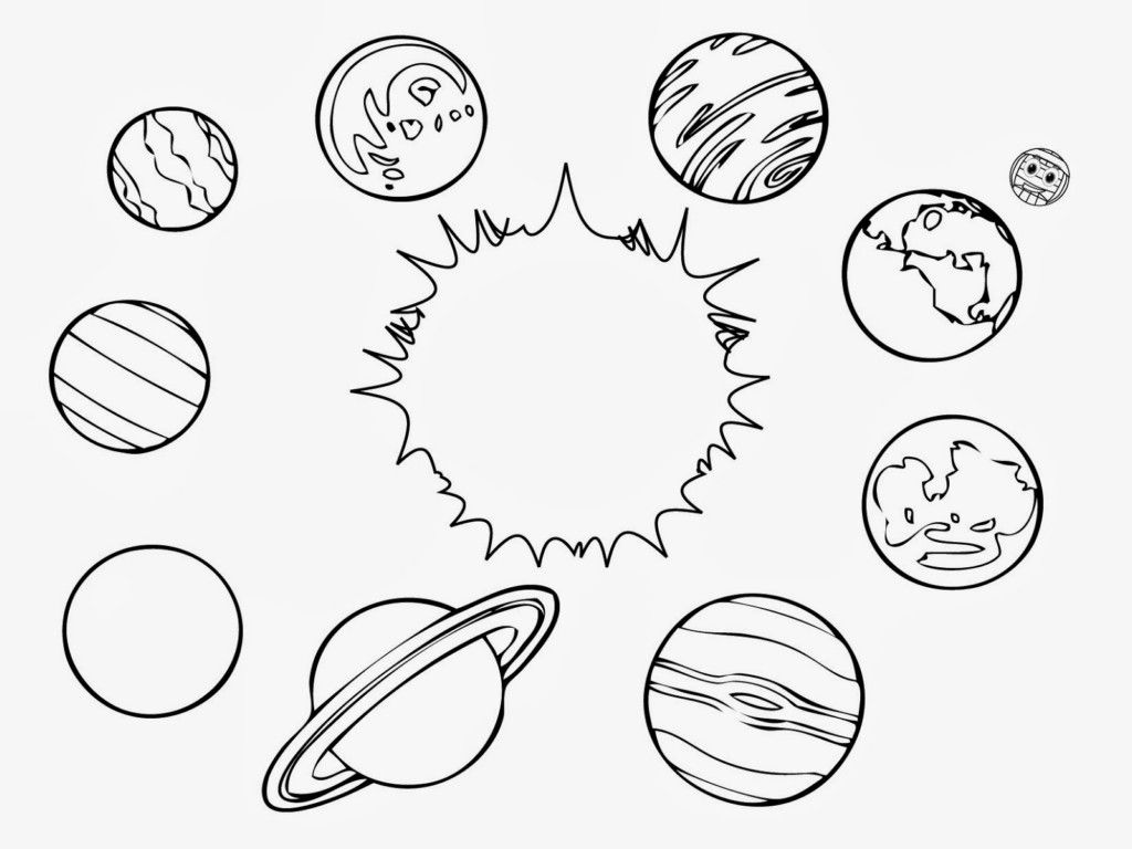 coloring solar system black and white solar system printout coloring page cliparts clipartix coloring black system and white solar