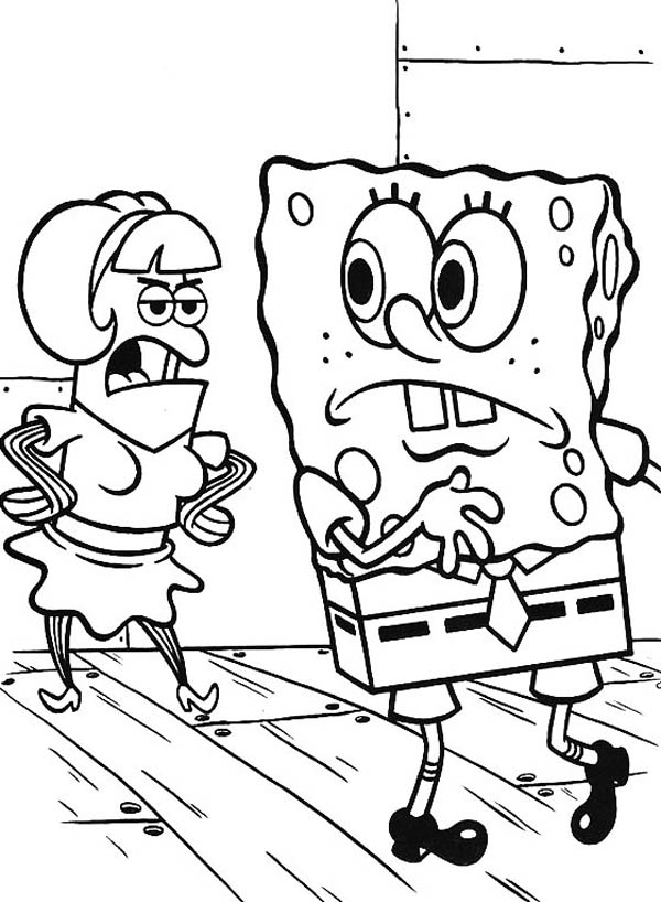 coloring spongebob black and white spongebob and guest in krusty krab coloring page color luna black white and spongebob coloring