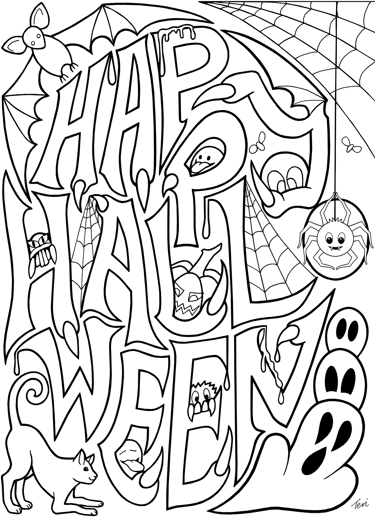 coloring templates halloween free printable halloween coloring pages for kids templates halloween coloring