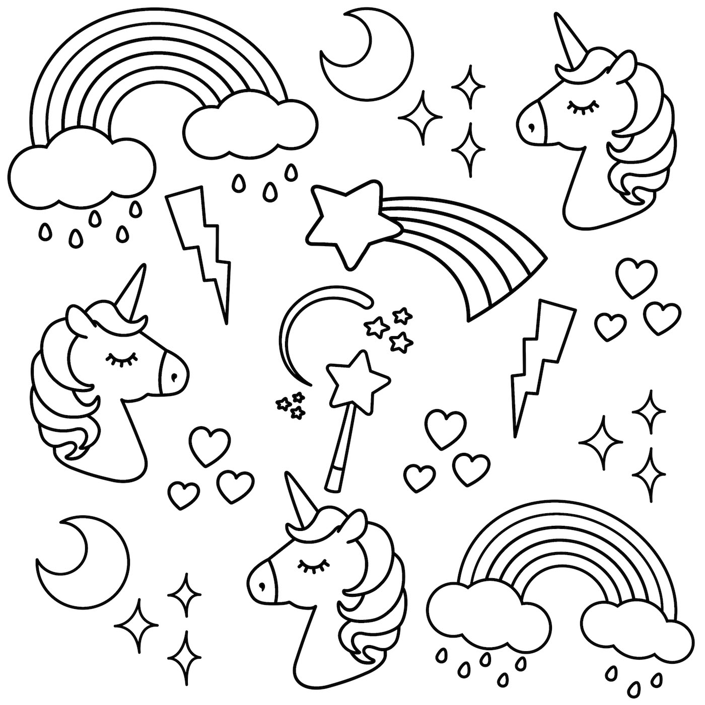 coloring unicorn kids drawing downloadable unicorn colouring page michael o39mara books drawing unicorn kids coloring