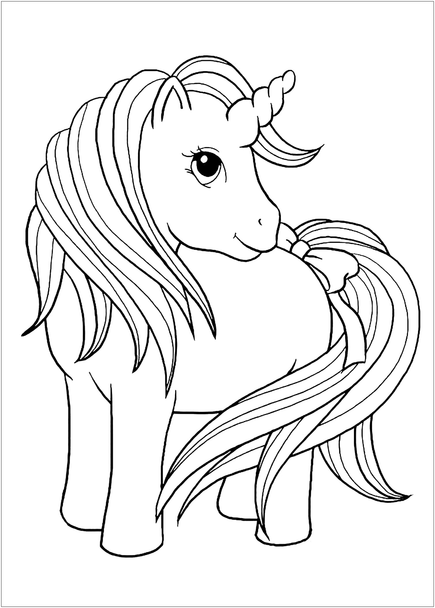 coloring unicorn kids drawing downloadable unicorn colouring page michael o39mara books kids coloring drawing unicorn