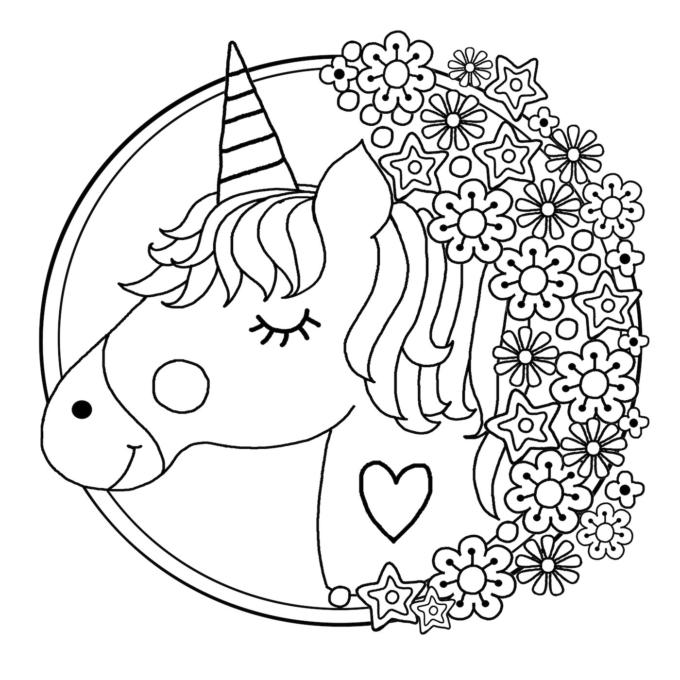 coloring unicorn kids drawing free printable unicorn coloring pages for kids drawing unicorn kids coloring