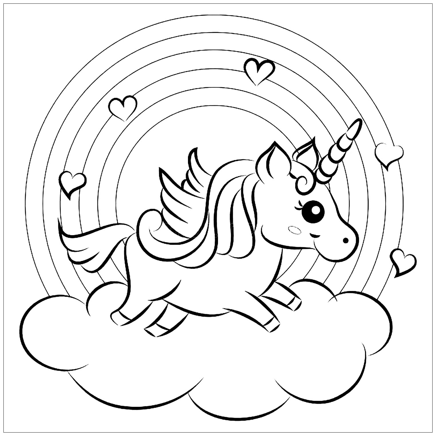 coloring unicorn kids drawing free printable unicorn coloring pages for kids drawing unicorn kids coloring 1 1