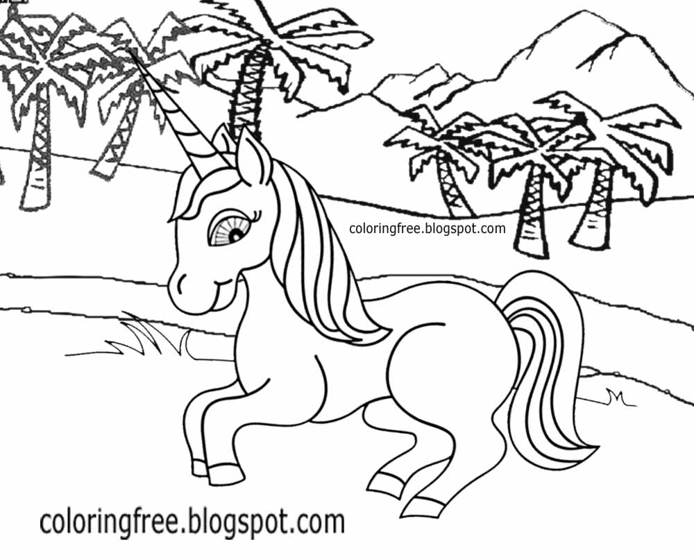 coloring unicorn kids drawing printable unicorn drawing mythical coloring book pictures drawing kids unicorn coloring