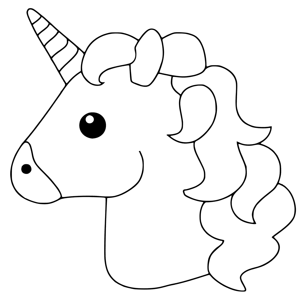 coloring unicorn kids drawing unicorn coloring pages simple line drawing free coloring kids unicorn drawing